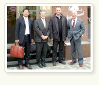 Dr. Frederic Beugnet /Merial(France) Mr. Nagata and Mr. Kawata/Department of Companion Animals, Merial Japan