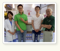 4th year students of the Veterinary College of Chonbuk National University, Korea Shin Sang-Yun and Lee Sang-Fan (Aug. 30 2012)